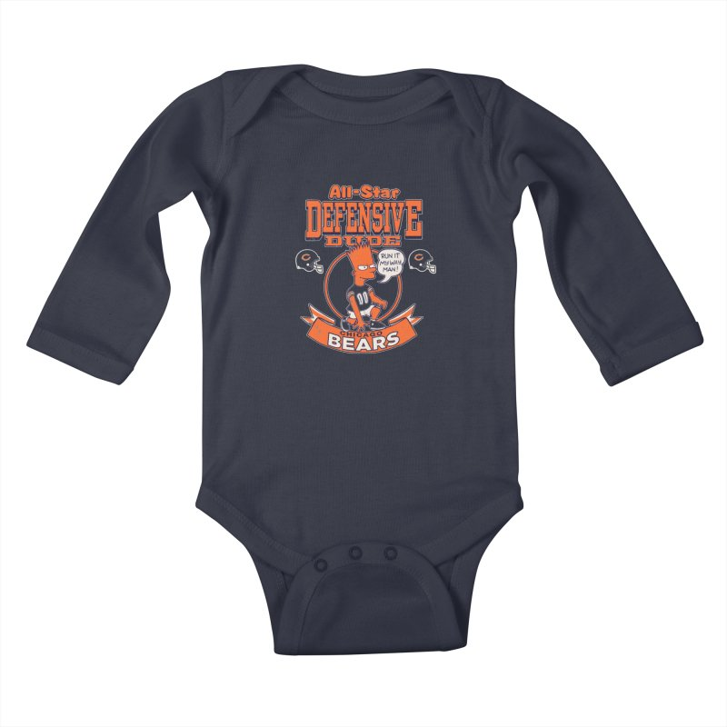 Chicago Defensive Dudes Kids Baby Longsleeve Bodysuit by jublin's Artist Shop