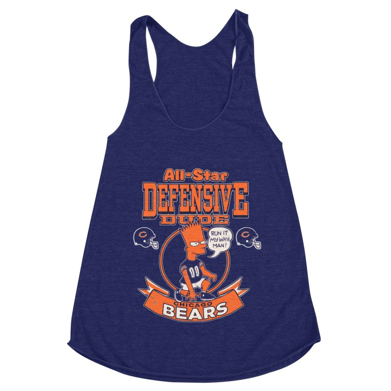 Chicago Defensive Dudes Women's Racerback Triblend Tank by jublin's Artist Shop