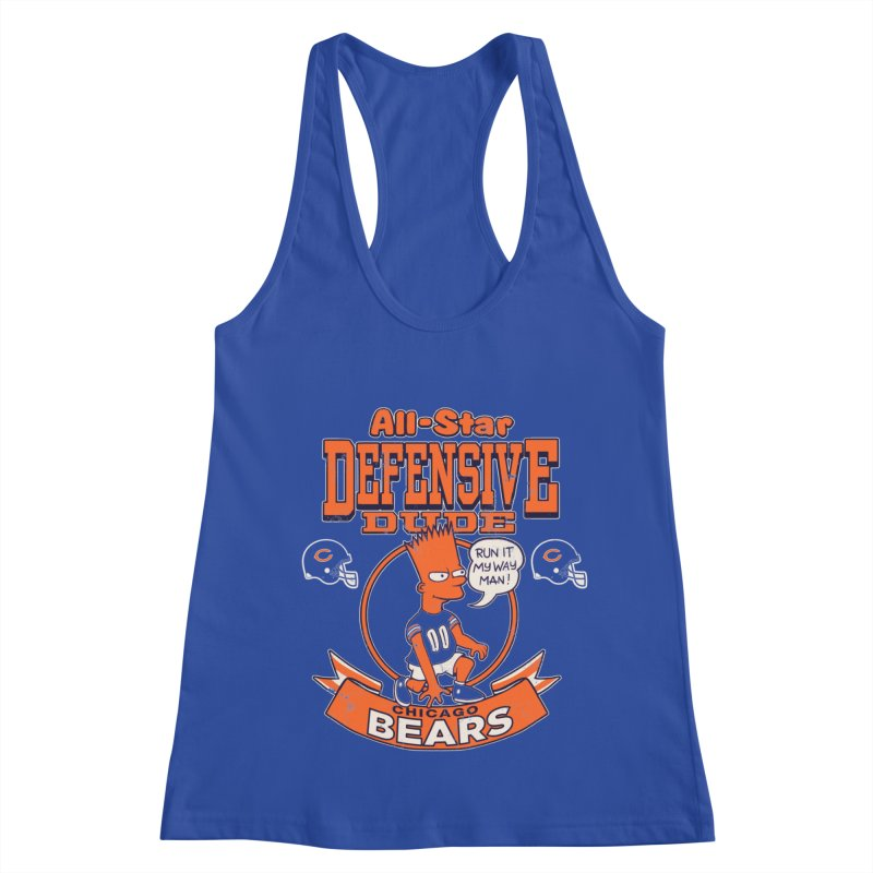 Chicago Defensive Dudes Women's Racerback Tank by jublin's Artist Shop