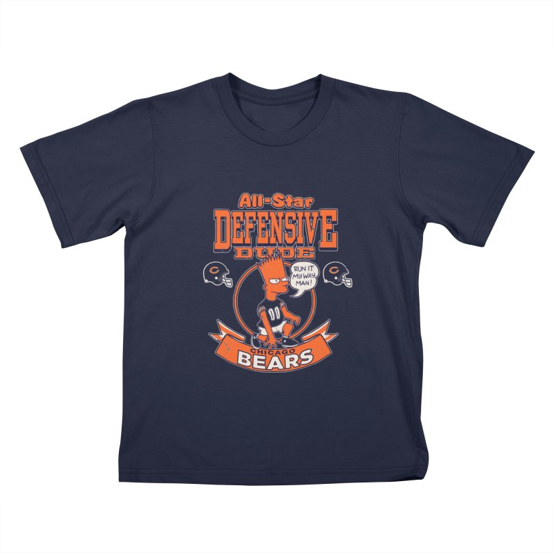 Chicago Defensive Dudes Kids T-Shirt by jublin's Artist Shop