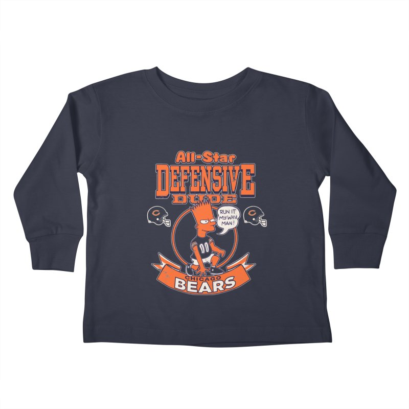 Chicago Defensive Dudes Kids Toddler Longsleeve T-Shirt by jublin's Artist Shop
