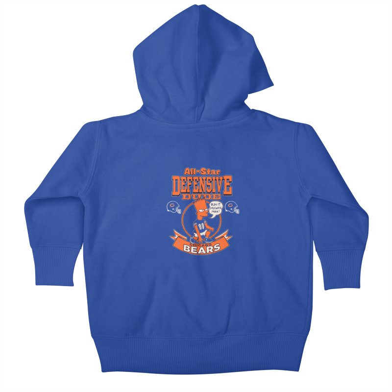 Chicago Defensive Dudes Kids Baby Zip-Up Hoody by jublin's Artist Shop