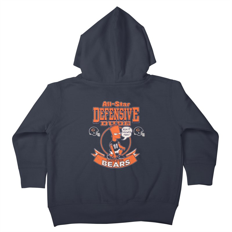 Chicago Defensive Dudes Kids Toddler Zip-Up Hoody by jublin's Artist Shop