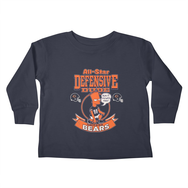 Chicago Defensive Dudes Kids Toddler Longsleeve T-Shirt by jublin's Artist Shop