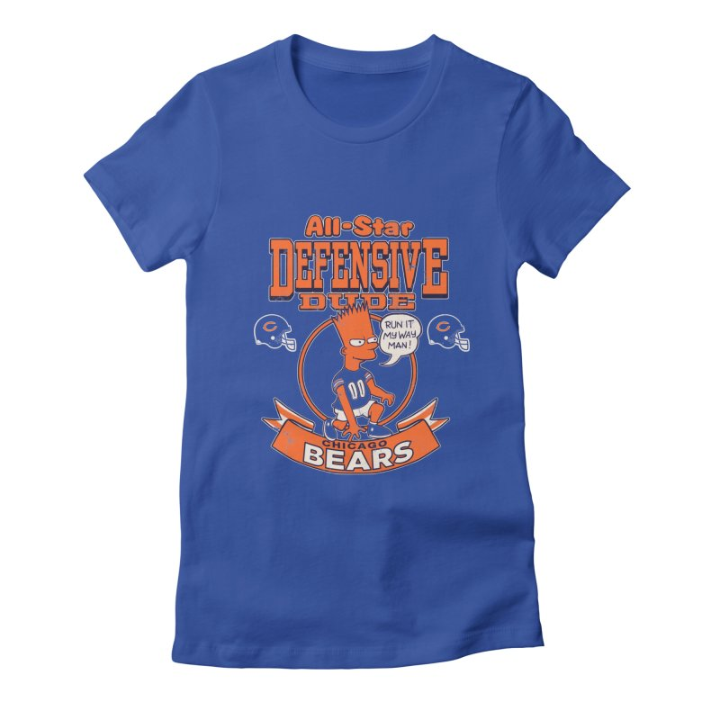 Chicago Defensive Dudes Women's Fitted T-Shirt by jublin's Artist Shop