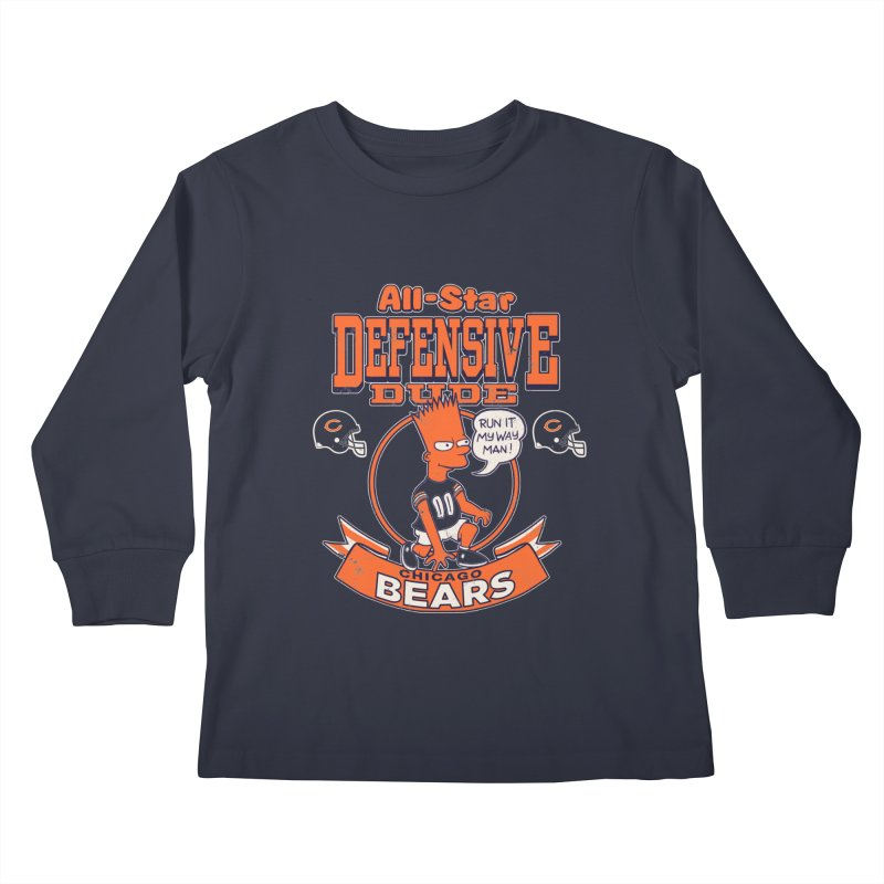 Chicago Defensive Dudes Kids Longsleeve T-Shirt by jublin's Artist Shop