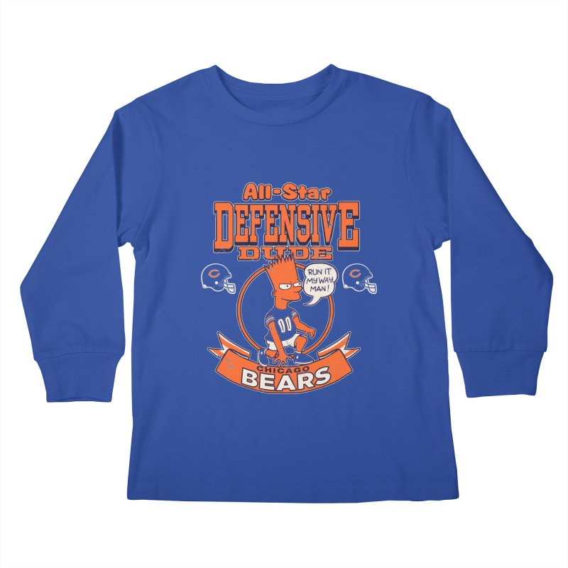 Chicago Defensive Dudes Kids Longsleeve T-Shirt by jublin's Artist Shop