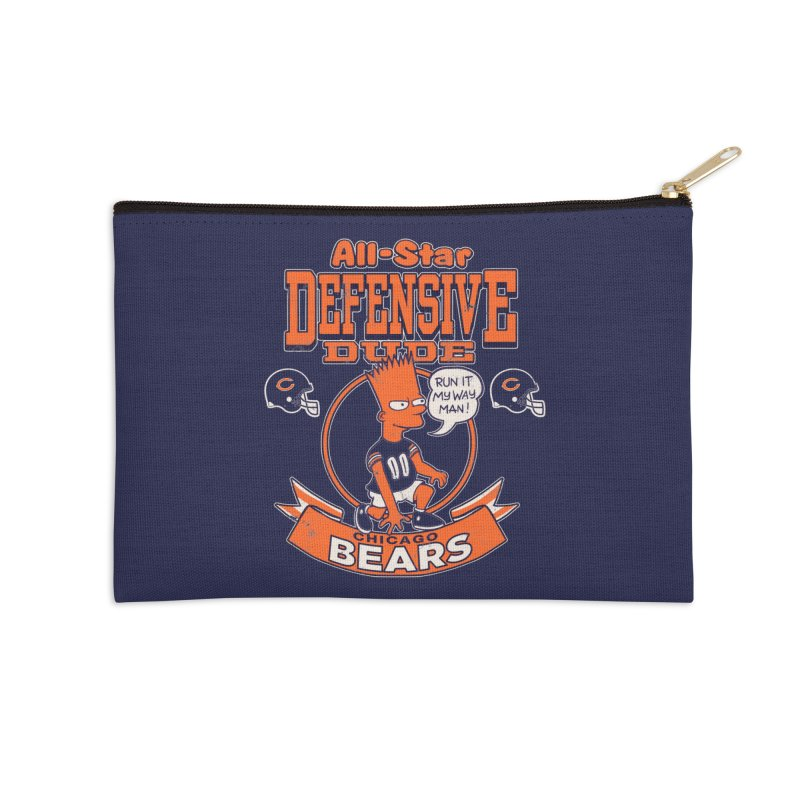 Chicago Defensive Dudes Accessories Zip Pouch by jublin's Artist Shop