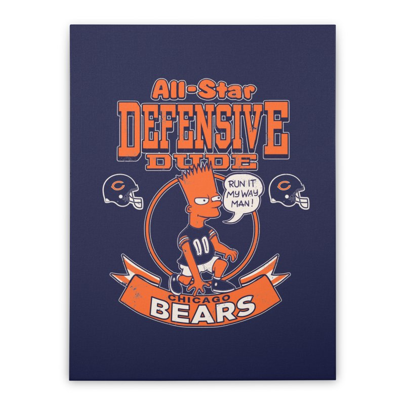 Chicago Defensive Dudes Home Stretched Canvas by jublin's Artist Shop