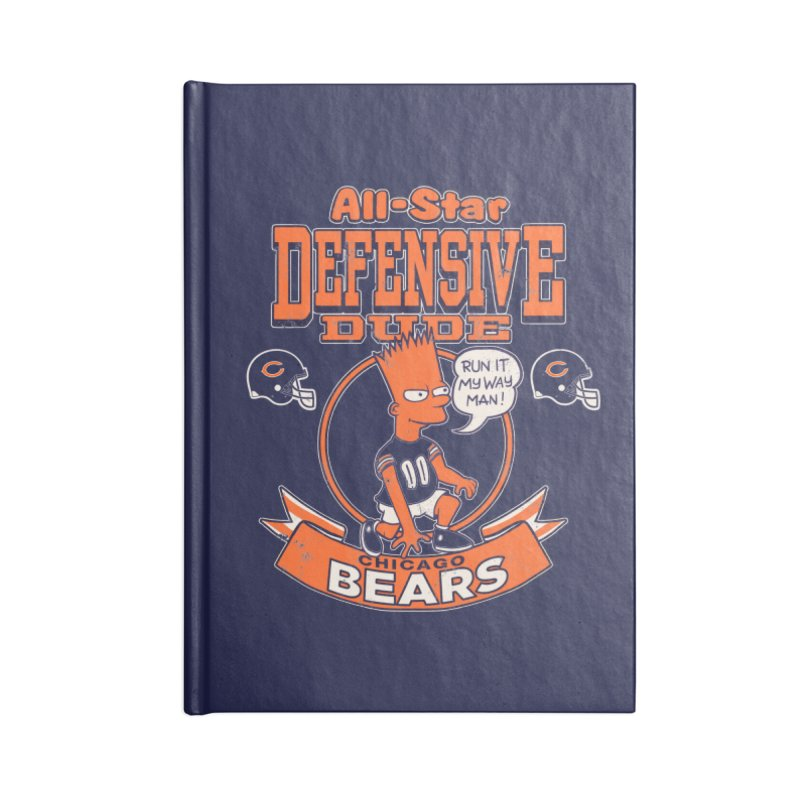 Chicago Defensive Dudes Accessories Blank Journal Notebook by jublin's Artist Shop