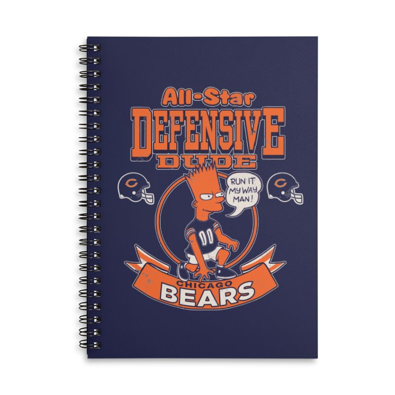 Chicago Defensive Dudes Accessories Lined Spiral Notebook by jublin's Artist Shop