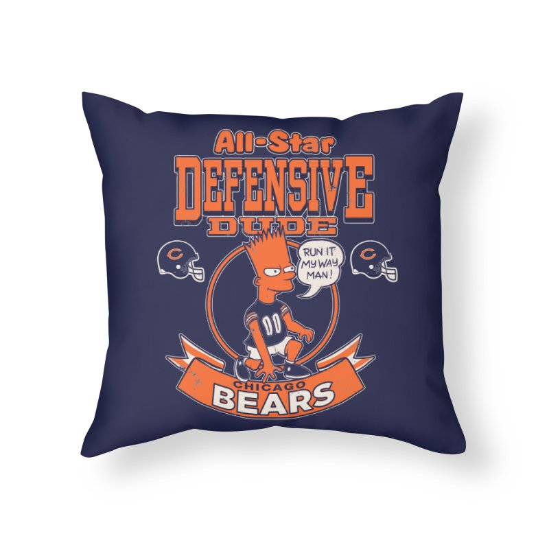 Chicago Defensive Dudes Home Throw Pillow by jublin's Artist Shop