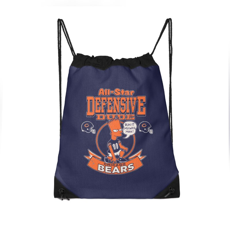 Chicago Defensive Dudes Accessories Drawstring Bag Bag by jublin's Artist Shop