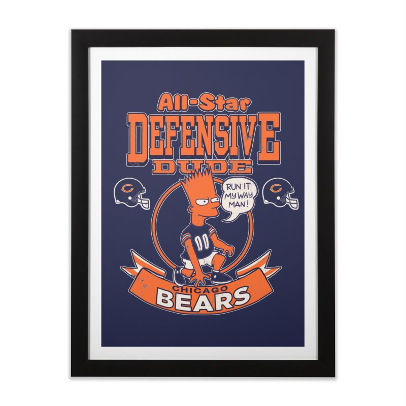 Chicago Defensive Dudes Home Framed Fine Art Print by jublin's Artist Shop