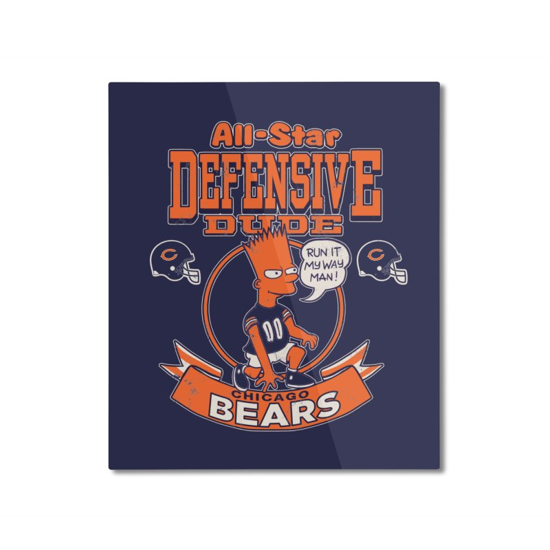Chicago Defensive Dudes Home Mounted Aluminum Print by jublin's Artist Shop
