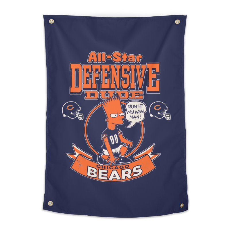 Chicago Defensive Dudes Home Tapestry by jublin's Artist Shop