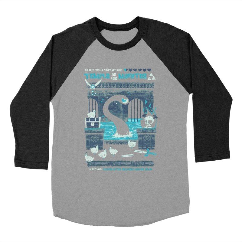 Templo de los Muertos Women's Baseball Triblend Longsleeve T-Shirt by jublin's Artist Shop
