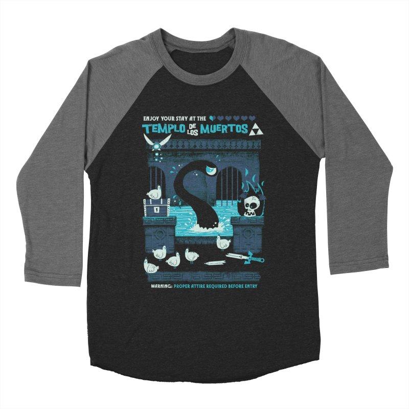Templo de los Muertos Men's Baseball Triblend Longsleeve T-Shirt by jublin's Artist Shop