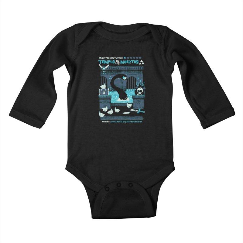 Templo de los Muertos Kids Baby Longsleeve Bodysuit by jublin's Artist Shop