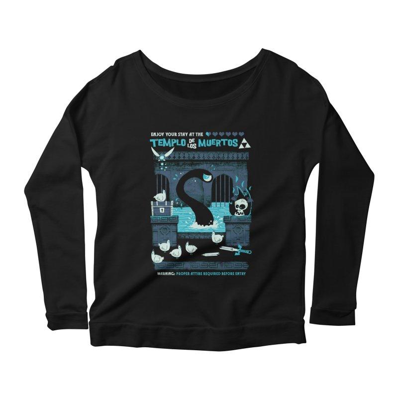 Templo de los Muertos Women's Scoop Neck Longsleeve T-Shirt by jublin's Artist Shop