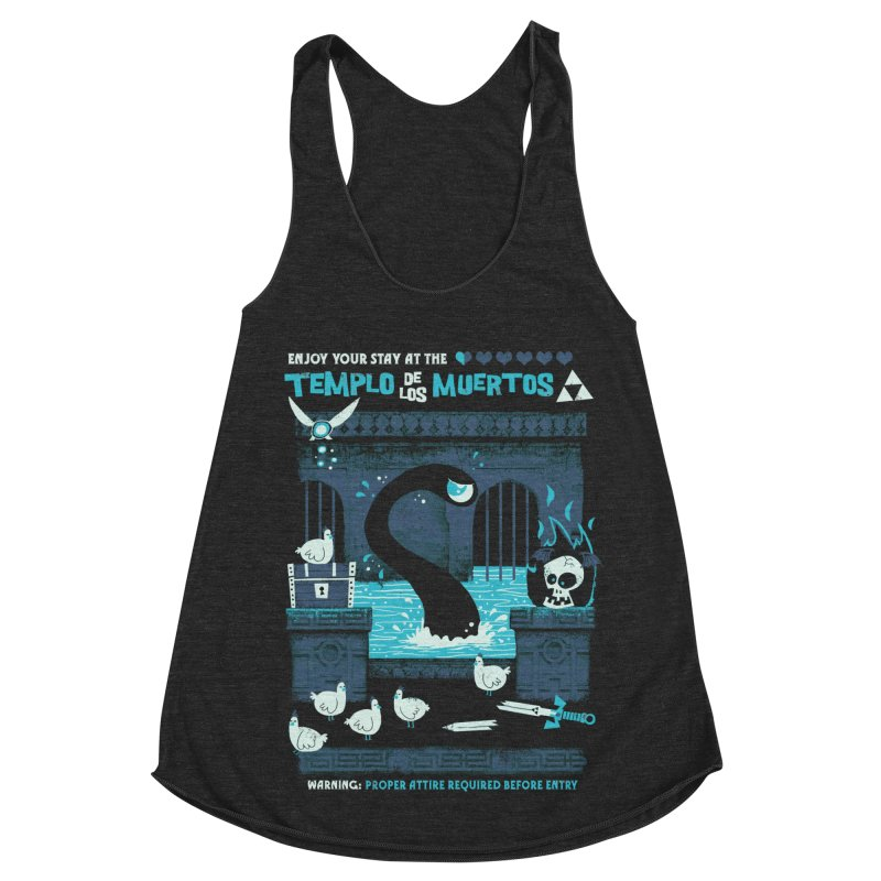 Templo de los Muertos Women's Racerback Triblend Tank by jublin's Artist Shop