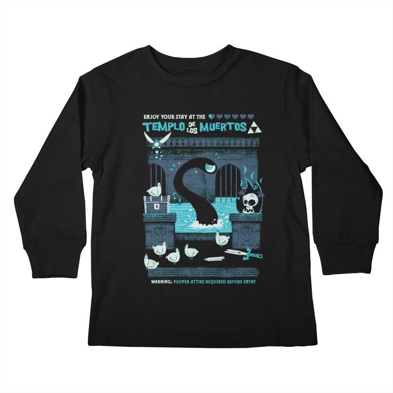 Templo de los Muertos Kids Longsleeve T-Shirt by jublin's Artist Shop