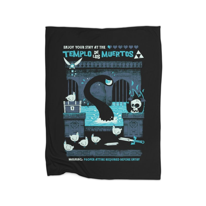 Templo de los Muertos Home Fleece Blanket Blanket by jublin's Artist Shop
