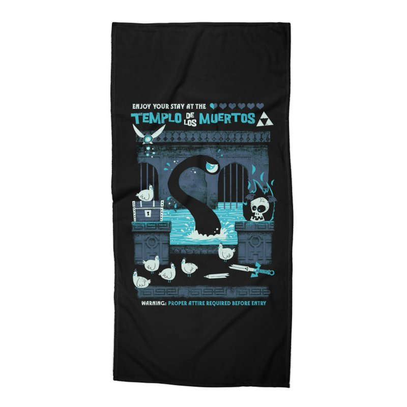Templo de los Muertos Accessories Beach Towel by jublin's Artist Shop