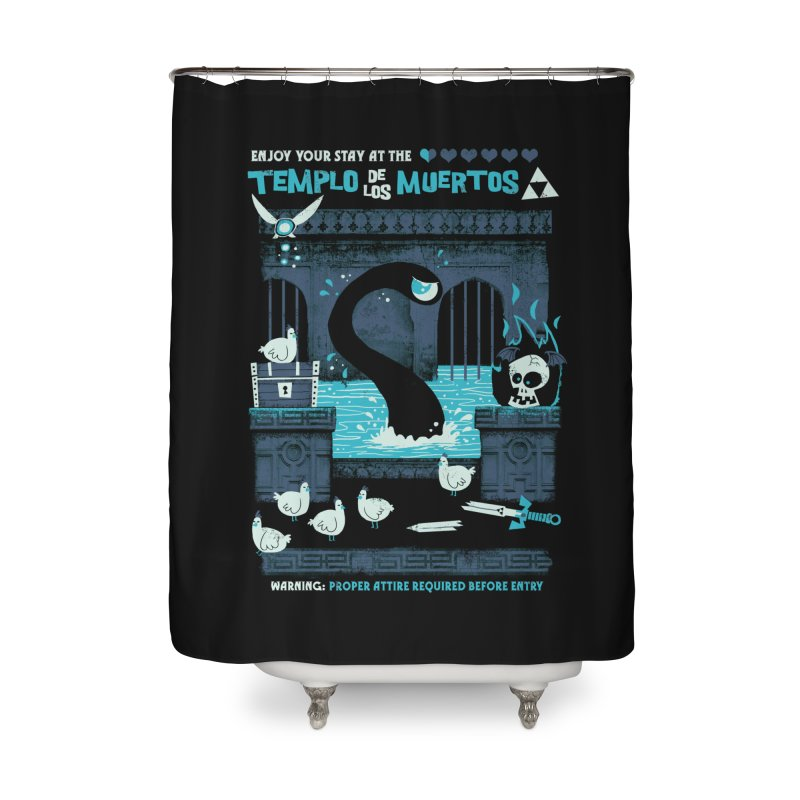 Templo de los Muertos Home Shower Curtain by jublin's Artist Shop