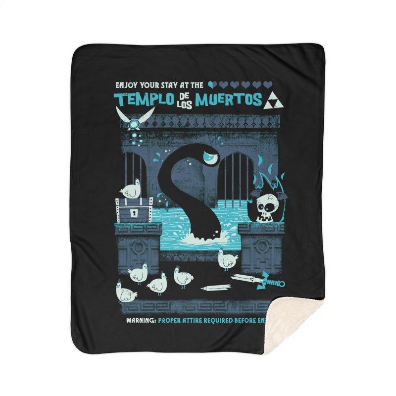 Templo de los Muertos Home Sherpa Blanket Blanket by jublin's Artist Shop