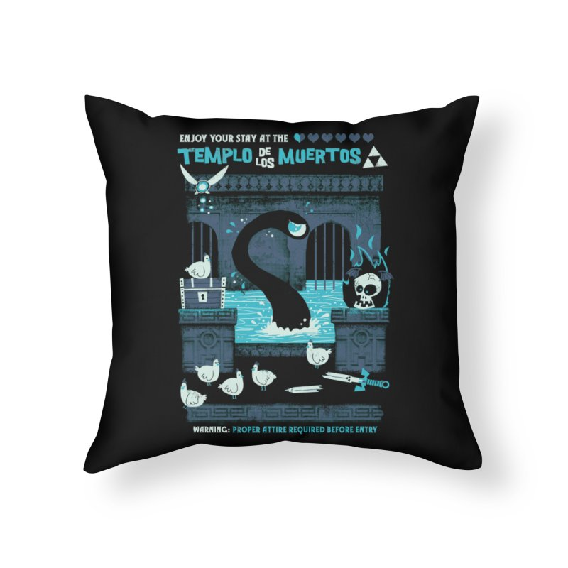 Templo de los Muertos Home Throw Pillow by jublin's Artist Shop
