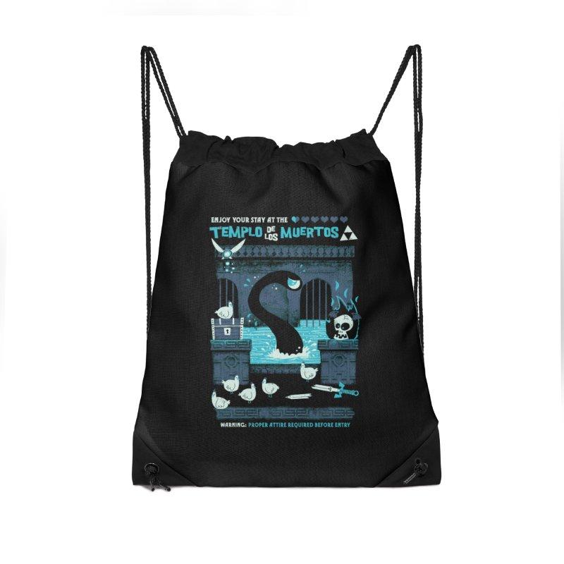 Templo de los Muertos Accessories Drawstring Bag Bag by jublin's Artist Shop