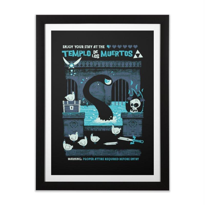 Templo de los Muertos Home Framed Fine Art Print by jublin's Artist Shop