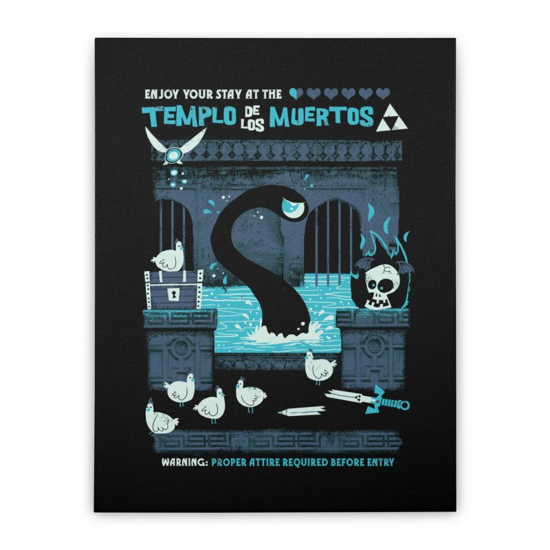 Templo de los Muertos Home Stretched Canvas by jublin's Artist Shop