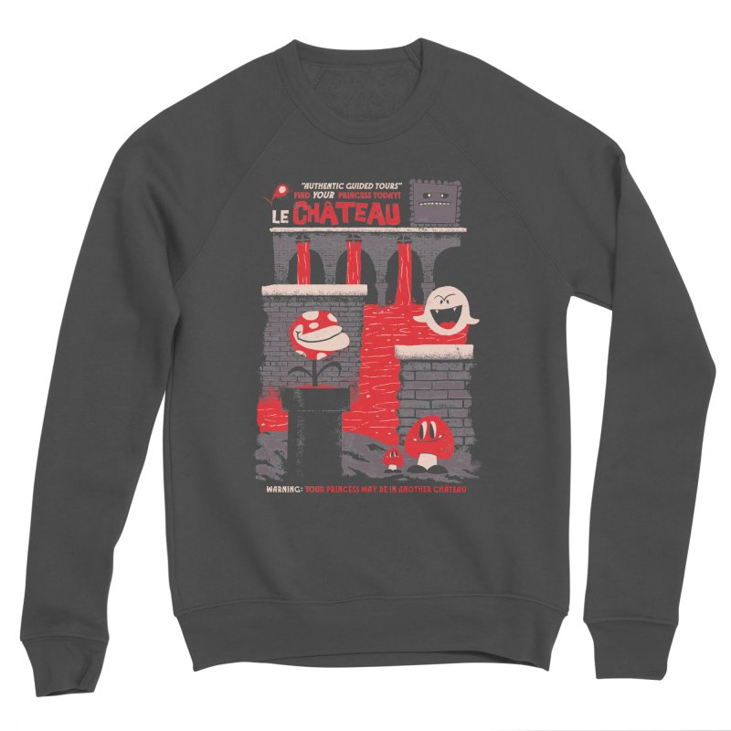 Le Chateau Men's Sponge Fleece Sweatshirt by jublin's Artist Shop