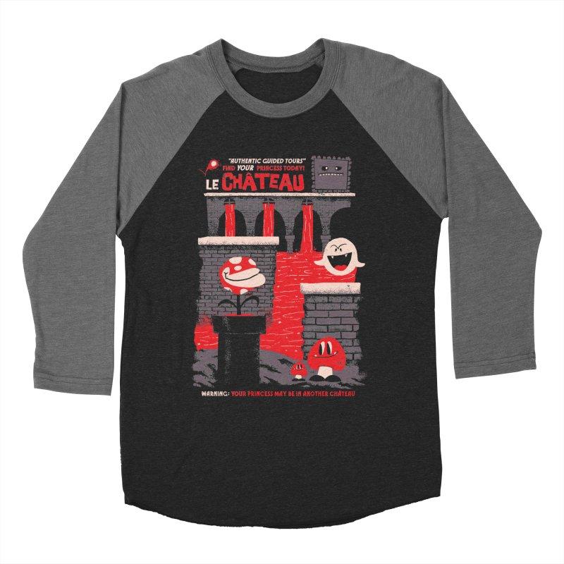 Le Chateau Men's Baseball Triblend Longsleeve T-Shirt by jublin's Artist Shop