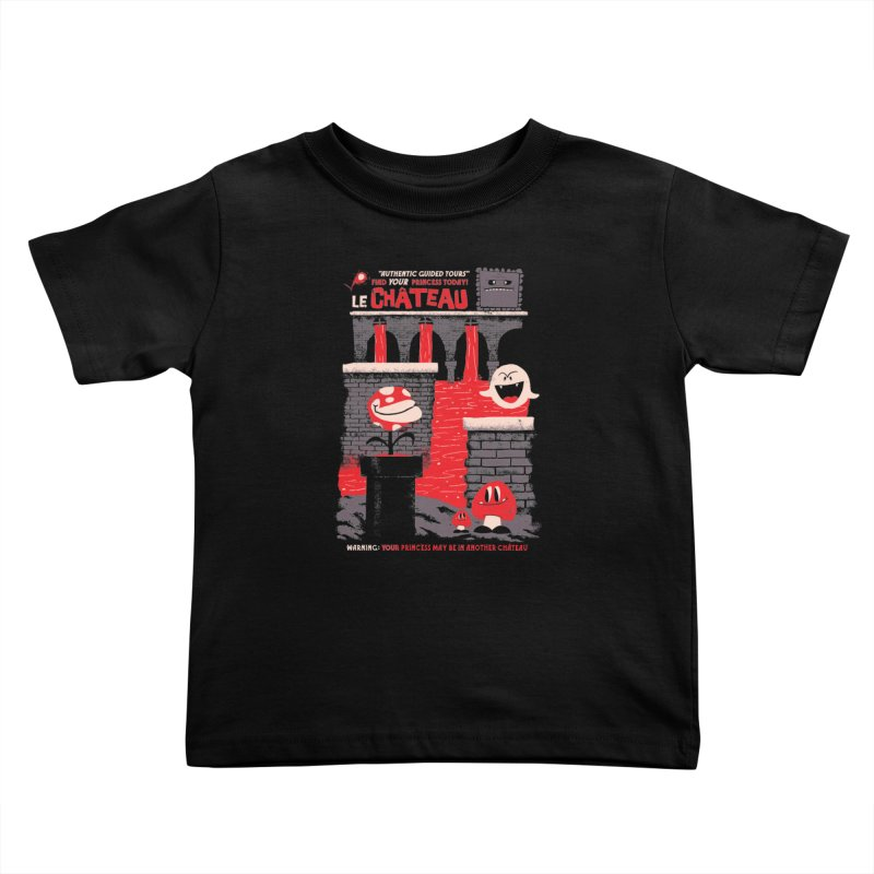 Le Chateau Kids Toddler T-Shirt by jublin's Artist Shop