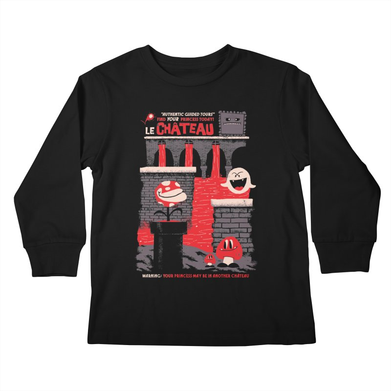 Le Chateau Kids Longsleeve T-Shirt by jublin's Artist Shop