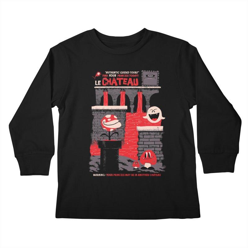Le Chateau Kids Longsleeve T-Shirt by jublin's Artist Shop