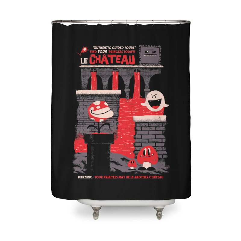 Le Chateau Home Shower Curtain by jublin's Artist Shop