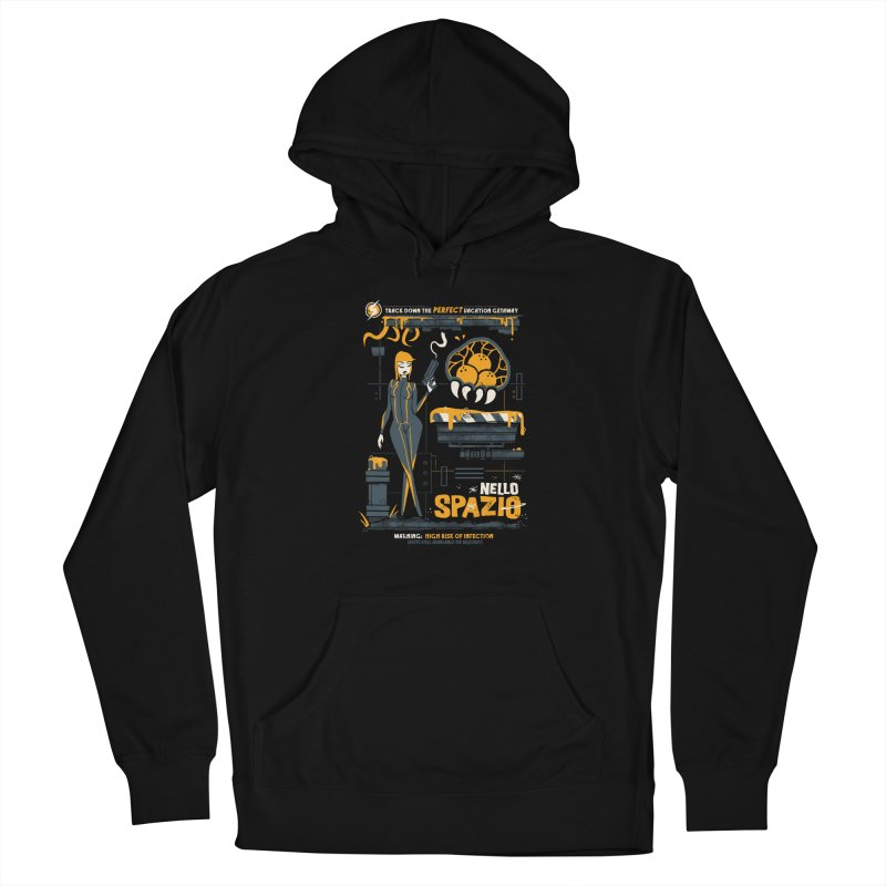 Nello Spazio Men's French Terry Pullover Hoody by jublin's Artist Shop