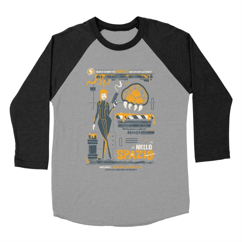 Nello Spazio Men's Baseball Triblend Longsleeve T-Shirt by jublin's Artist Shop