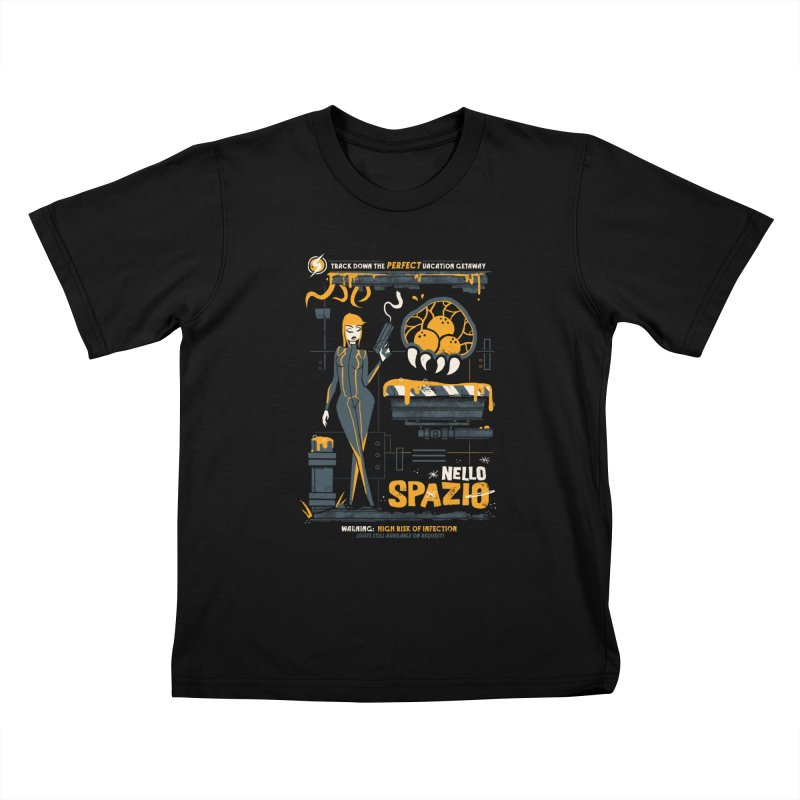 Nello Spazio Kids T-Shirt by jublin's Artist Shop