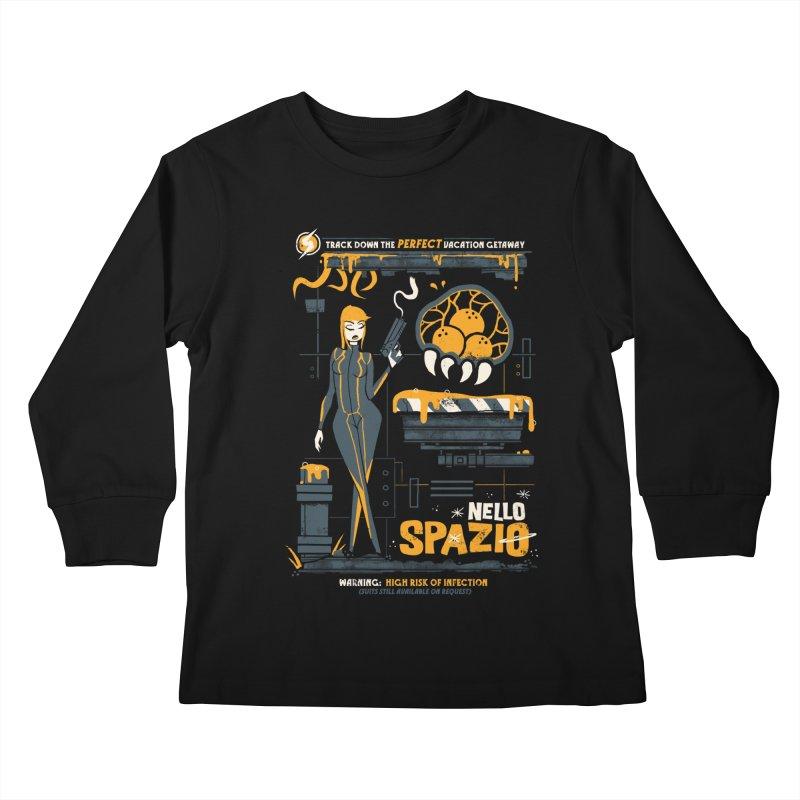 Nello Spazio Kids Longsleeve T-Shirt by jublin's Artist Shop