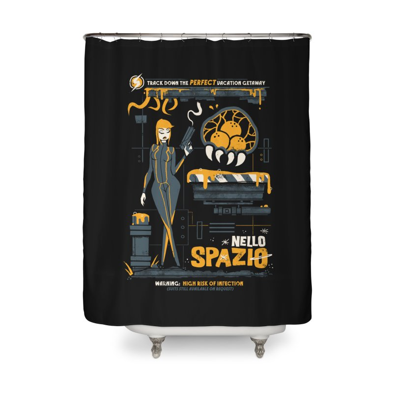 Nello Spazio Home Shower Curtain by jublin's Artist Shop
