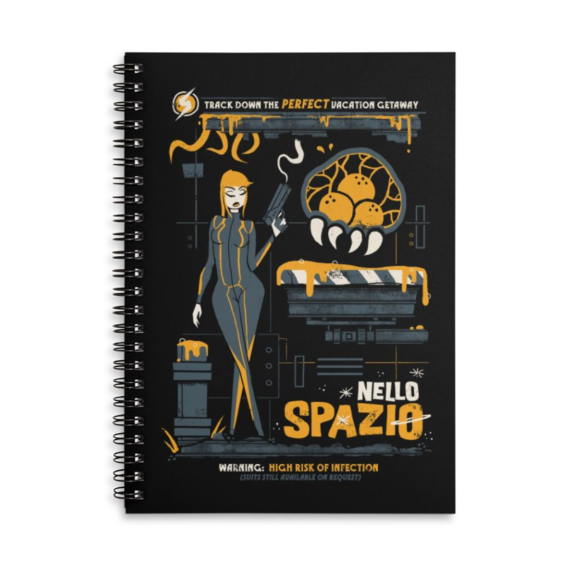 Nello Spazio Accessories Lined Spiral Notebook by jublin's Artist Shop