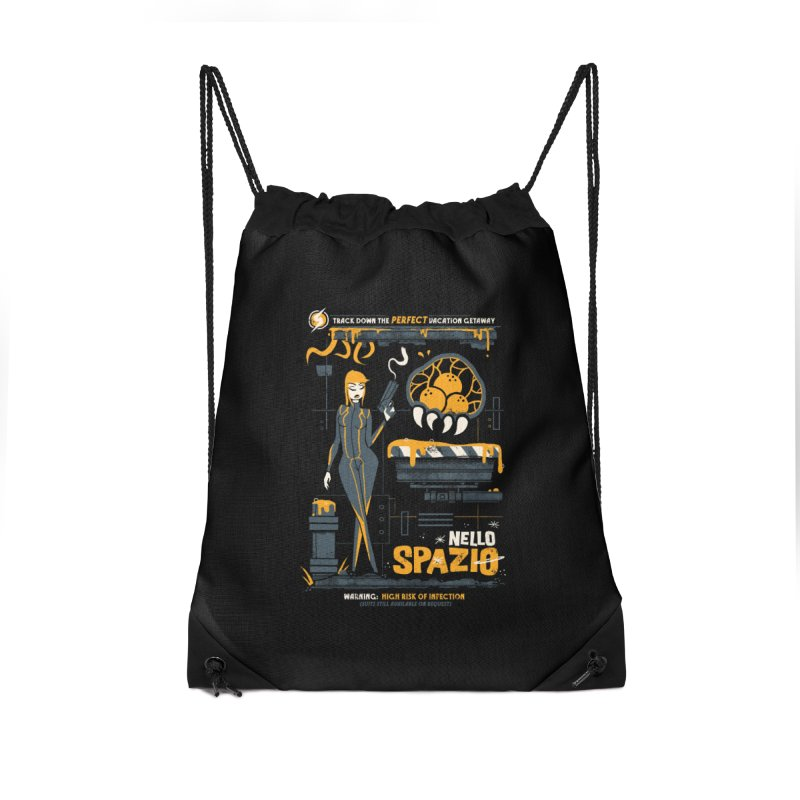 Nello Spazio Accessories Drawstring Bag Bag by jublin's Artist Shop