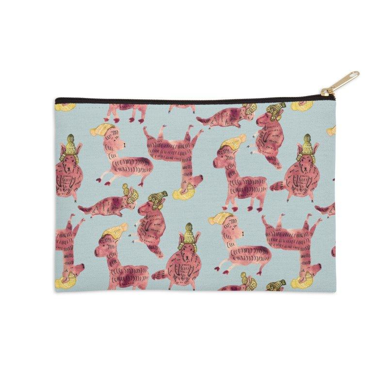 Alpaca and Vizcacha Beanie Pouch Accessories Zip Pouch by judysunwoo's Artist Shop