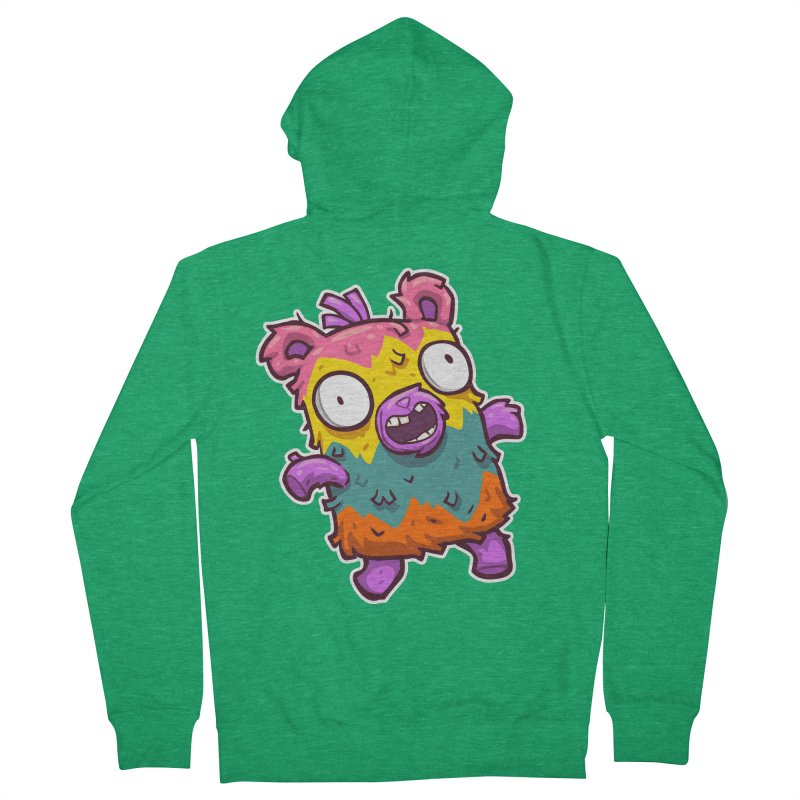 Burrito Bison - Punched Piñata Men's French Terry Zip-Up Hoody by The Juicy Beast shop!