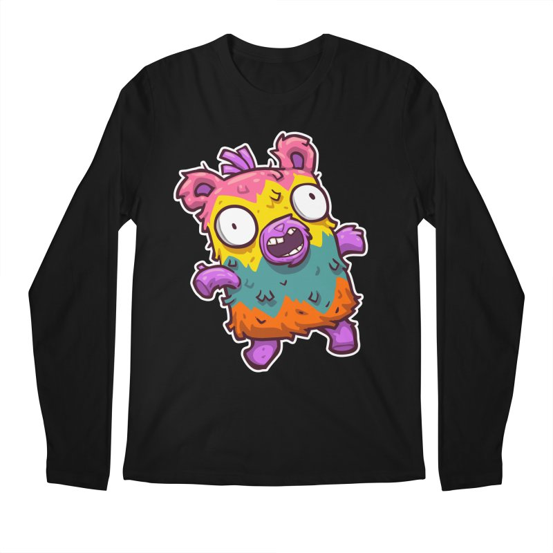 Burrito Bison - Punched Piñata Men's Regular Longsleeve T-Shirt by The Juicy Beast shop!